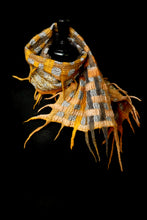 "Load image into Gallery viewer, ""Goldie Luxe"" merino and metallic silk organza scarf"