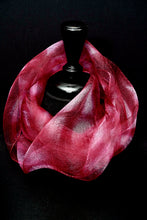"Load image into Gallery viewer, ""Holiday Lite I"" Shibori silk organza gaz scarf"