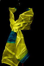 "Load image into Gallery viewer, ""Lanai"" Bojagi silk organza wrap"