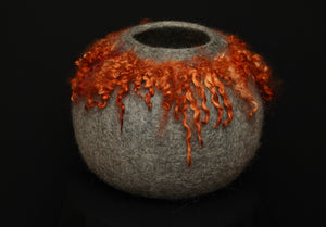 """Etna"" hand felted wool vessel"