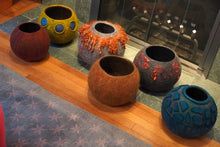 "Load image into Gallery viewer, ""Etna"" hand felted wool vessel"