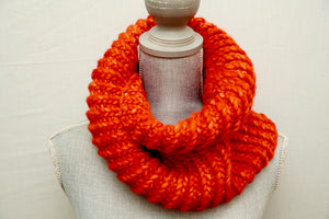 Orange Crush Möbius Cowl
