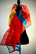 "Load image into Gallery viewer, ""Rio"" Bojagi silk organza wrap"