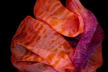 "Load image into Gallery viewer, ""Holiday!"" Shibori dyed silk organza wrap"