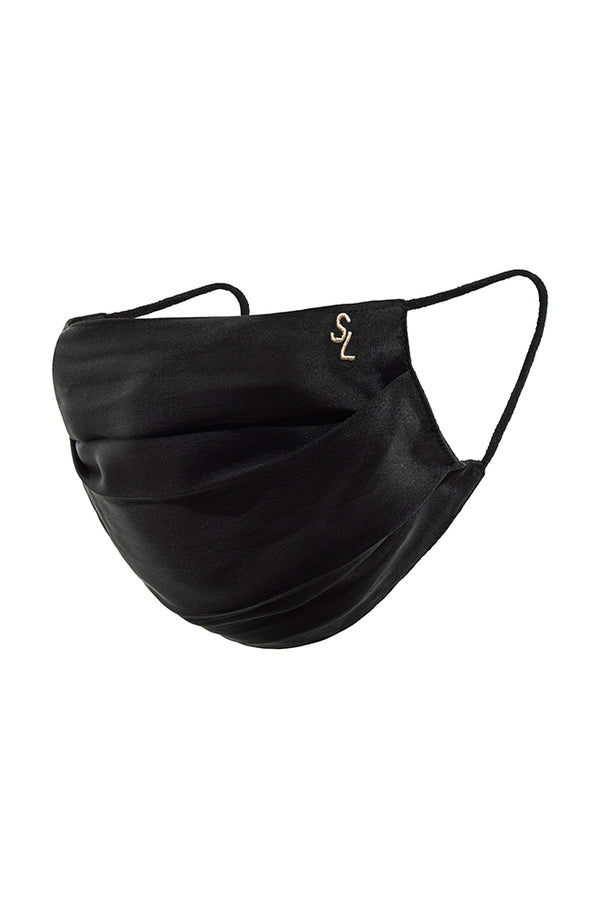 SILK FACE MASK BLACK