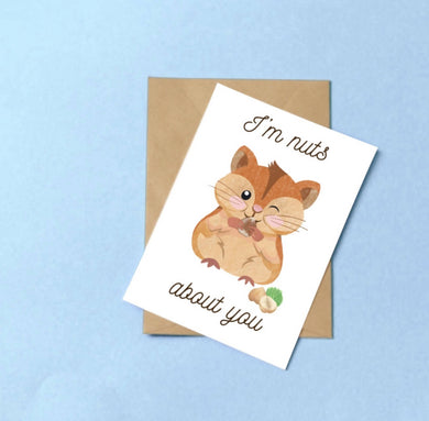 Carte Saint Valentin : I'm nuts about you