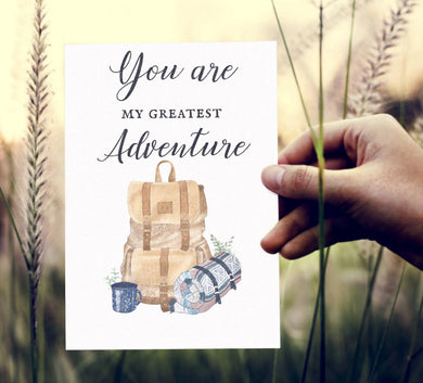 Carte Saint Valentin Voyage: You're my Greatest Adventure