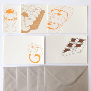 Set de 5 cartes pâtisseries