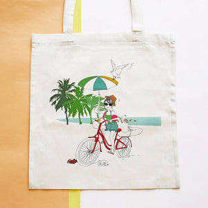 Coton bio tote bag illustré PLAYA