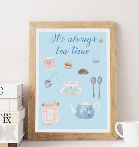 Affiche It's always tea time - Team Petit Paris - Les Créatifs Parisiens