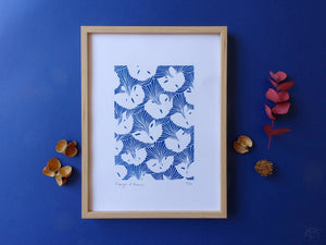 "Cyanotype ""Visages d'Ananas"""