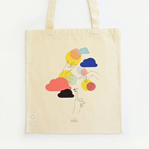 Tote bag illustré coton bio Don't Tell Anyone