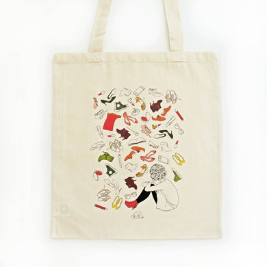 Tote bag illustré coton bio SHOES