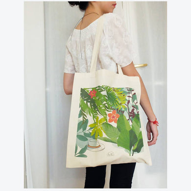 Coton bio tote bag illustré LA SIESTE