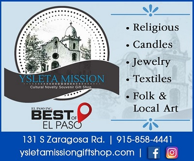 Ysleta Mission Gift Shop-                                                            First Stop Along the Mission Trail