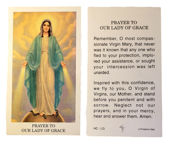 Prayer Card Prayer To Our Lady Of Grace Laminated HC- LG