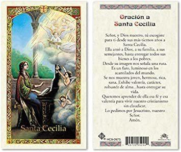 Prayer Card Oracion A Santa Cecilia Laminated HC9-097S