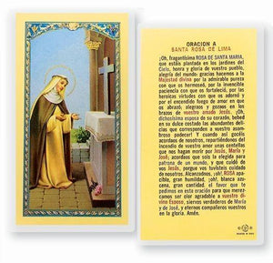 Prayer Card Oracion A Santa Rosa De Lima SPANISH Laminated 700-168