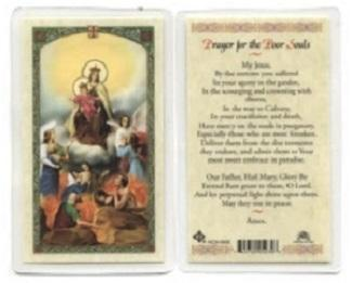Prayer Card Prayer For The Poor Souls Laminated HC9-090E