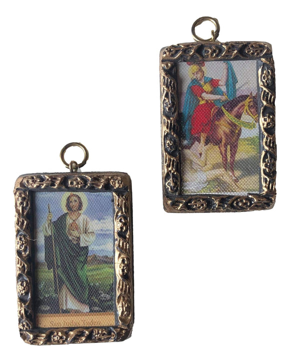 Art Framed Saint Images San Martin De Caballero Saint Jude Created In Mexico 3