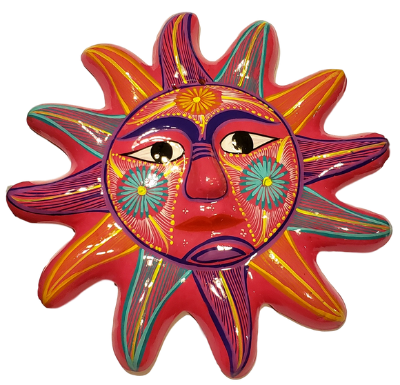 Home Good Ceramic Sun Large Various Colors Made In Mexico