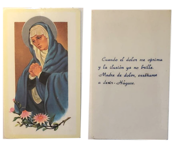 Prayer Card Cuando El Dolor Me Oprima SPANISH Laminated NC