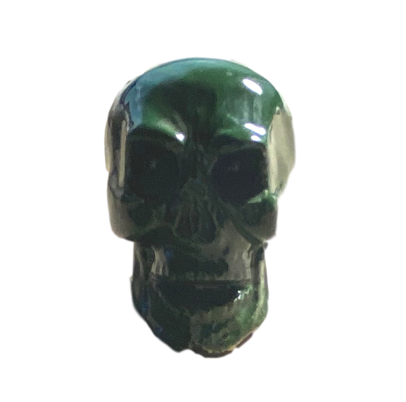 Day of the Dead Skull Small Green Glazed