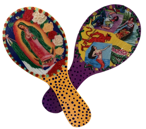 Accessory Mirror Hand-Painted Skilled Mexico Artist Loteria