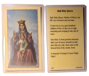 Prayer Card Hail Holy Queen Laminated AF807