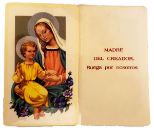 Prayer Card Madre Del Creador, Ruega Por Nostros SPANISH Laminated NC