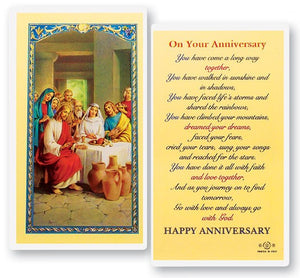 Prayer Card On Your Anniversary You Have Come A Long Way Together Laminated 800-150