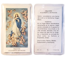 Prayer Card Oracion A La Santa Asuncion SPANISH Laminated HCS-AT