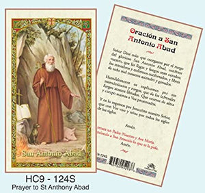Prayer Card Oracion A San Antonio Abad SPANISH Laminated HC9-124S