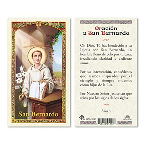 Prayer Card Oracion A San Bernardo SPANISH Laminated HC9-126S
