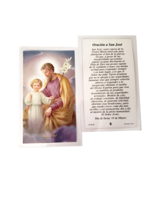Prayer Card Oracion A San Jose SPANISH Laminated HC-JS-SP