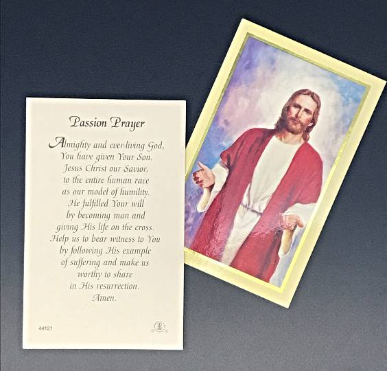 Prayer Card Passion Prayer Almighty And Ever-Living God Laminated 44121