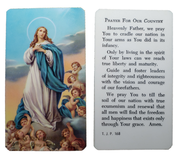 Prayer Card Prayer For Our Country Laminated TJP168