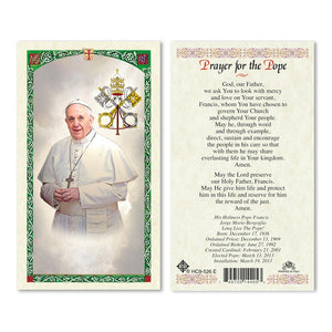 Prayer Card Prayer For The Pope Laminated HC9-526E
