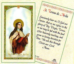 Prayer Card Saint Teresa De Avila Laminated HC9-131E