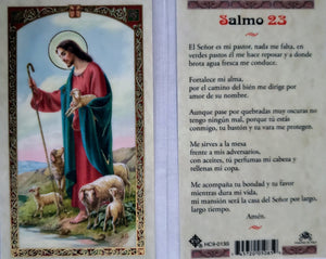 Prayer Card Salmos 23 SPANISH Laminated HC9-013S