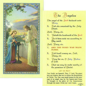Prayer Card The Angelus Laminated 800-062