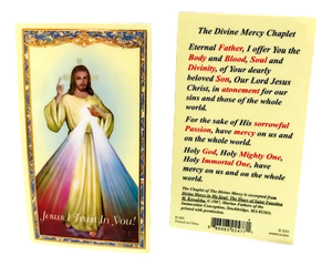 Prayer Card The Divine Mercy Chaplet Laminated PC891