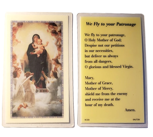 Prayer Card We Fly To Your Patronage Laminated BC339
