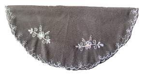 Devotional Sacrament Lace Veil Mass Head Coverings Mantilla Hand-Crafted Round Shape Black Detailing Blue Grey