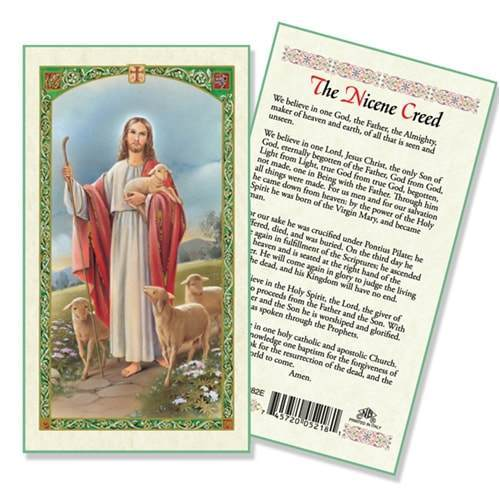 Prayer Card Nicene Creed I Believe In One God Laminated HC9-082E
