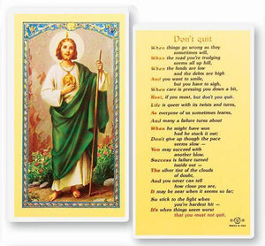 Prayer Card Prayer To Saint Jude Don't Quit Laminated HC9-080E