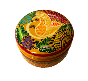 Jewelry Box Ceramic Circular Made In Mexico