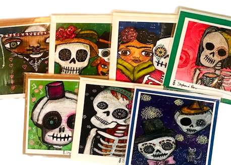 Paper Good Greeting Card Day Of Dead Frame able Designs Hand-Crafted Local El Paso Artist Stephanie Romero