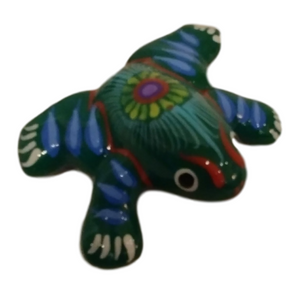 Magnet Frog Hand-Painted Hand-Crafted Skilled Mexico Artist