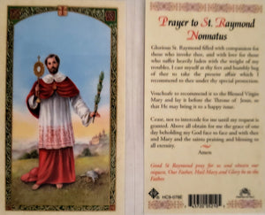 Prayer Card Prayer To Saint Raymond Nonnatus Laminated HC9-078E